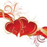 Tarjetas del día de San Valentín fondo, vector Fotografía de archivo libre de regalías