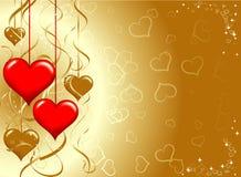 Tarjetas del día de San Valentín fondo, vector Imagen de archivo libre de regalías