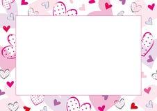 Tarjetas del día de San Valentín o marco de la boda Imagen de archivo libre de regalías