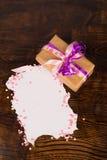 Tarjetas del día de San Valentín presentes Fotografía de archivo libre de regalías
