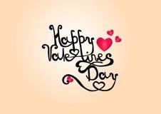 Tarjetas del día de San Valentín que ponen letras a elementos del vector del amor fotografía de archivo
