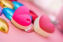 Tarjetas del día de San Valentín y el día más dulce Foto de archivo libre de regalías