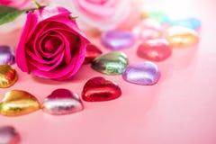 Tarjetas del día de San Valentín y el día más dulce Fotografía de archivo libre de regalías