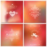 Tarjetas del día de tarjeta del día de San Valentín Imagen de archivo libre de regalías