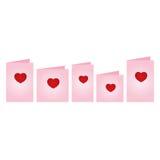 Tarjetas del día de tarjetas del día de San Valentín Foto de archivo libre de regalías