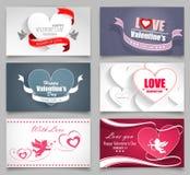 Tarjetas del día de tarjetas del día de San Valentín Foto de archivo