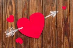 Tarjetas del día de tarjetas del día de San Valentín Imágenes de archivo libres de regalías