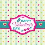 Tarjetas del día de tarjetas del día de San Valentín con los ornamentos, vector Fotografía de archivo libre de regalías