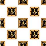 Tarjetas del día del ` s de la tarjeta del día de San Valentín bajo la forma de cuadrado Libre Illustration
