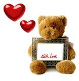 Tarjetas del día de San Valentín - Teddybear Fotografía de archivo