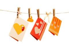 Tarjetas del día de tarjeta del día de San Valentín Foto de archivo