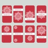 Tarjetas del descuento con la mandala de la flor Fotos de archivo libres de regalías