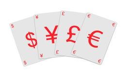 Tarjetas del dinero en circulación ilustración del vector