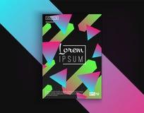 Tarjetas del diseño de la cubierta del folleto aisladas Diseño plano de la moda dinámica Cartel, bandera, aviador, cartel, tarjet Foto de archivo libre de regalías