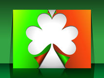 Tarjetas del doblez del St Patrick Foto de archivo libre de regalías