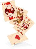 Tarjetas del juego de los corazones Fotos de archivo
