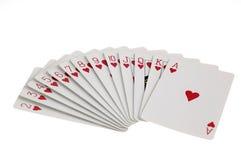 Tarjetas del juego del corazón Fotos de archivo