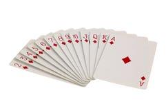 Tarjetas del juego del diamante Foto de archivo libre de regalías