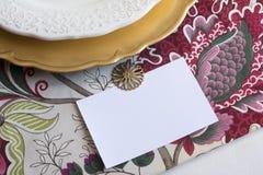 Tarjetas del lugar de la acción de gracias con el tipo Fotos de archivo