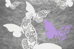 Tarjetas del lugar de la boda de la mariposa Fotos de archivo libres de regalías