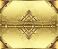 Tarjetas del oro del fondo ilustración del vector