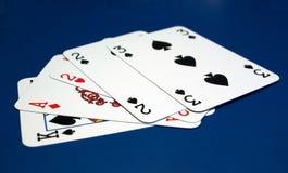 Tarjetas del póker imagenes de archivo