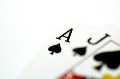Tarjetas del póker Fotografía de archivo libre de regalías