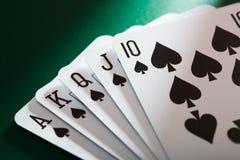 Tarjetas del póker Imagen de archivo libre de regalías