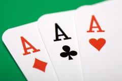 Tarjetas del póker Fotos de archivo libres de regalías