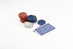 Tarjetas del póker Imágenes de archivo libres de regalías