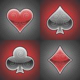 Tarjetas del póker del vector Imágenes de archivo libres de regalías