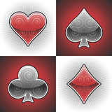 Tarjetas del póker del vector Imagenes de archivo