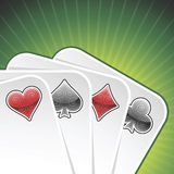 Tarjetas del póker del vector Fotos de archivo