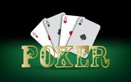 Tarjetas del póker Elementos del casino del vector Imagen de archivo libre de regalías