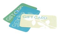 Tarjetas del regalo Imagen de archivo libre de regalías