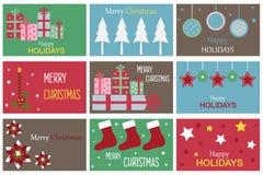 Tarjetas del regalo de la Navidad Foto de archivo