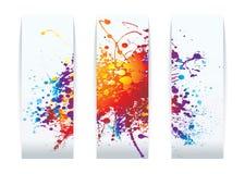 Tarjetas del splat del arco iris Fotos de archivo libres de regalías