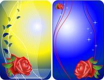 Tarjetas del vector de las rosas Imagenes de archivo