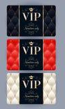 Tarjetas del VIP con el fondo acolchado extracto Fotografía de archivo libre de regalías