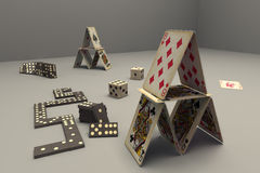 Tarjetas, dominó, juegos Libre Illustration