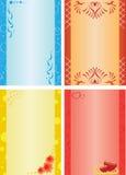 tarjetas en diversos colores Imagenes de archivo