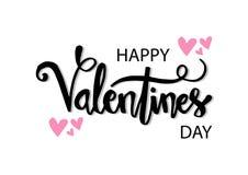 Tarjetas felices del día de tarjetas del día de San Valentín ilustración del vector