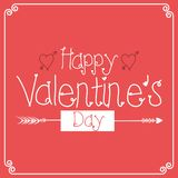 Tarjetas felices del día de tarjetas del día de San Valentín con los ornamentos, corazones libre illustration