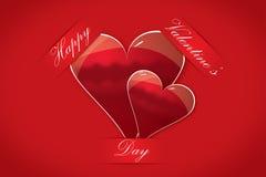 Tarjetas felices del día de tarjeta del día de San Valentín Fotografía de archivo libre de regalías
