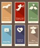 Tarjetas felices del día de tarjeta del día de San Valentín Imagenes de archivo