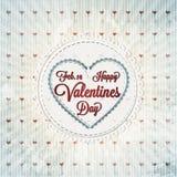 Tarjetas felices del día de tarjetas del día de San Valentín Foto de archivo
