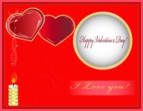 Tarjetas felices del día de tarjetas del día de San Valentín Imagen de archivo libre de regalías
