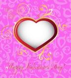 Tarjetas felices del día de tarjetas del día de San Valentín Fotos de archivo