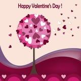 Tarjetas felices del día de tarjetas del día de San Valentín Imágenes de archivo libres de regalías