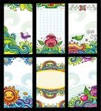 Tarjetas florales coloridas Fotografía de archivo